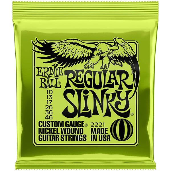 Ernie Ball 2221 Regular Slinky Electric Guitar Strings - 10-46