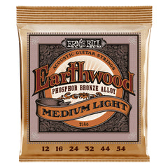 Ernie Ball Earthwood Regular Slinky Phosphor Bronze Acoustic Guitar Strings Medium Light 12-54