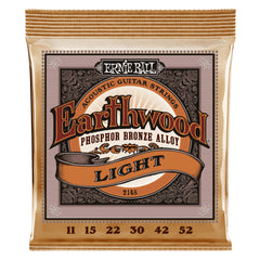 Ernie Ball Super Slinky Earthwood Phosphor Bronze Acoustic Guitar Strings Light 11-52