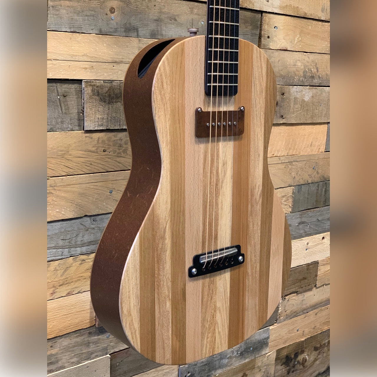 Acoustic Guitar Innovation Felix - Acoustolectrik - Hand Wound P90 - Electro Eco Guitar - Stripe