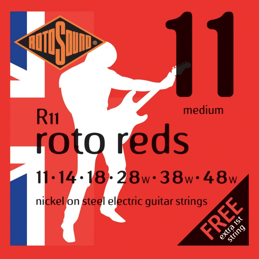 Rotosound R11 Roto Reds Electric Guitar Strings - 11-48
