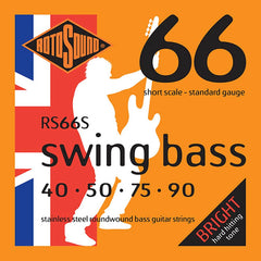 Rotosound RS66S 4 String Swing Bass Standard Stainless Steel Short Scale Strings 40-90
