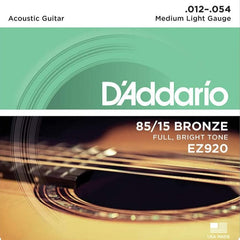 D'Addario EZ920 American Bronze Acoustic Guitar Strings - Medium Light - 12-54