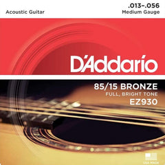 D'Addario EZ930 American Bronze Acoustic Guitar Strings - Medium - 13-56
