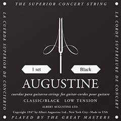 Augustine Classical Guitar Strings Black Label Low Tension