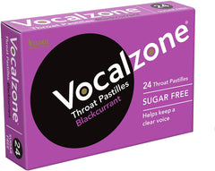 Vocalzone Throat Pastilles for Clear Vocals - Blackcurrant