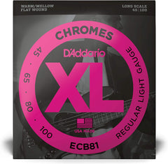 D'Addario ECB81 Chromes Bass Strings Light Long Scale - 45-100