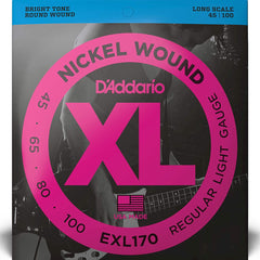 D'Addario EXL170 XL Bass Guitar Strings Regular Light 45-100