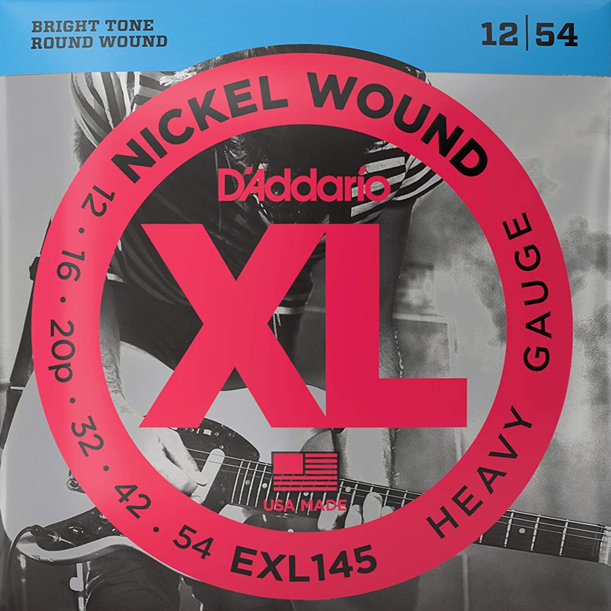 D'Addario EXL145 XL Electric Guitar Strings Heavy - 12-54