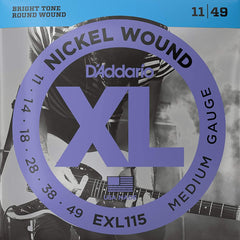 D'Addario EXL115 XL Electric Guitar Strings - Blues/Jazz Rock - 11-49