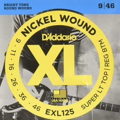 D'Addario EXL125 XL Electric Guitar Strings - Super Light Top / Regular Bottom - 9-46
