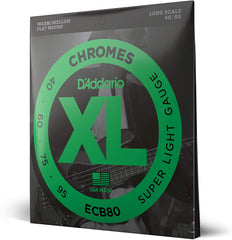 D'Addario ECB80 Chromes Bass Strings Light Long Scale - 40-95