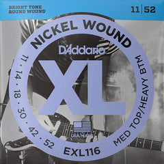 D'Addario EXL116 XL Electric Guitar Strings - Medium Top/Heavy Bottom - 11-52