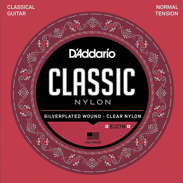 D'Addario EJ27N Classic Nylon Classical Guitar Strings Normal Tension 28-43