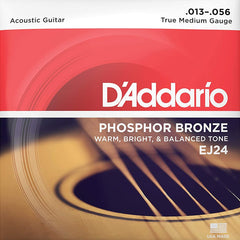 D'Addario EJ24 Phosphor Bronze Acoustic Guitar Strings Medium 13-56 | DADGAD tuning