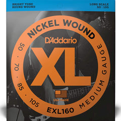 D'Addario EXL160 XL Bass Guitar Strings Medium Gauge 50-105