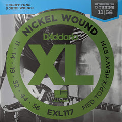 D'Addario EXL117 XL Electric Guitar Strings Medium Top / Extra Heavy Bottom - 11-56