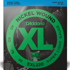 D'Addario EXL220 XL Bass Guitar Strings Super Light 40-95