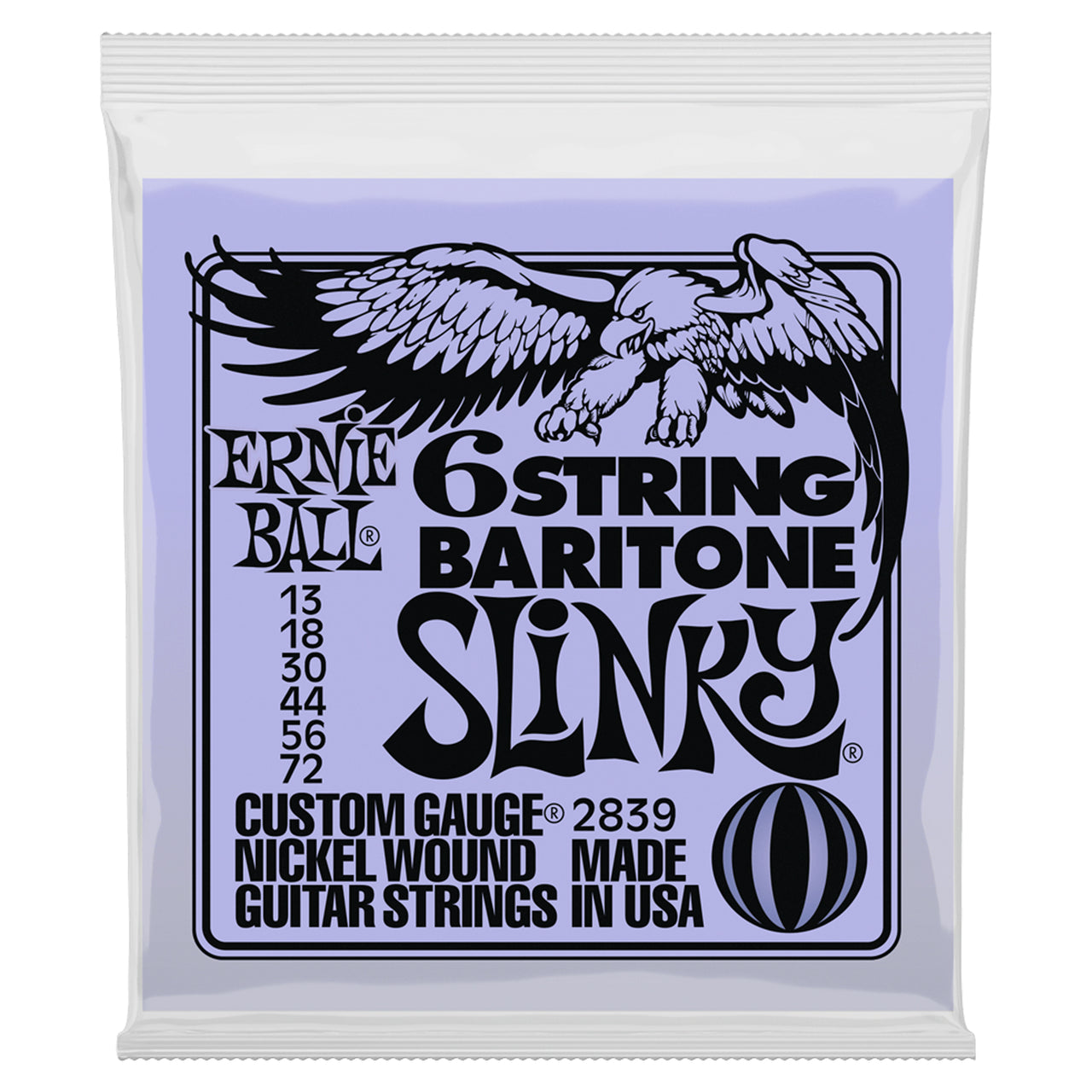Ernie Ball 6 String Baritone Slinky Electric Guitar Strings