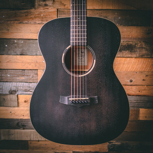 Tanglewood TWBB-OE Blackbird Folk Electro Acoustic Guitar - Smokestack Black Satin