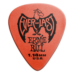 Ernie Ball 1.14mm Red Everlast Picks 12 Pack