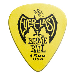 Ernie Ball 1.5mm Yellow Everlast Picks 12 Pack