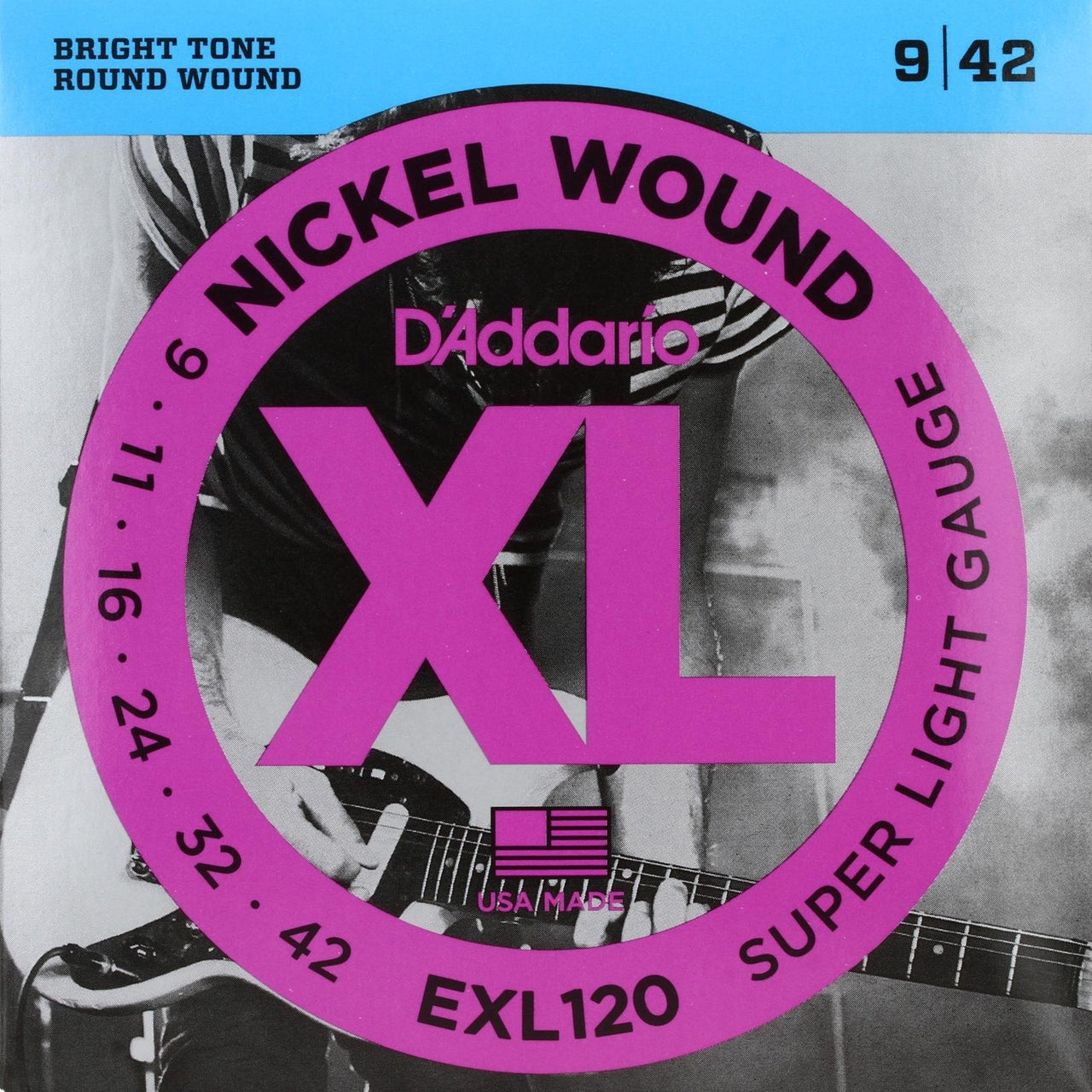 D'Addario EXL120 XL Electric Guitar Strings - Super Light - 9-42