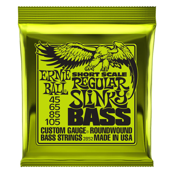 Ernie Ball 2852 Short Scale Regular Slinky Bass Guitar Strings - 45-105