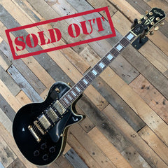 Epiphone Les Paul Electric Guitar (3 Pickups) - Ebony Black Beauty - Pre Owned