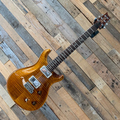 2003 PRS Paul Reed Smith Custom 22 10 Top in Vintage Amber with Birds #09148851 - MEGA flame! - W/OHSC - Pre Owned