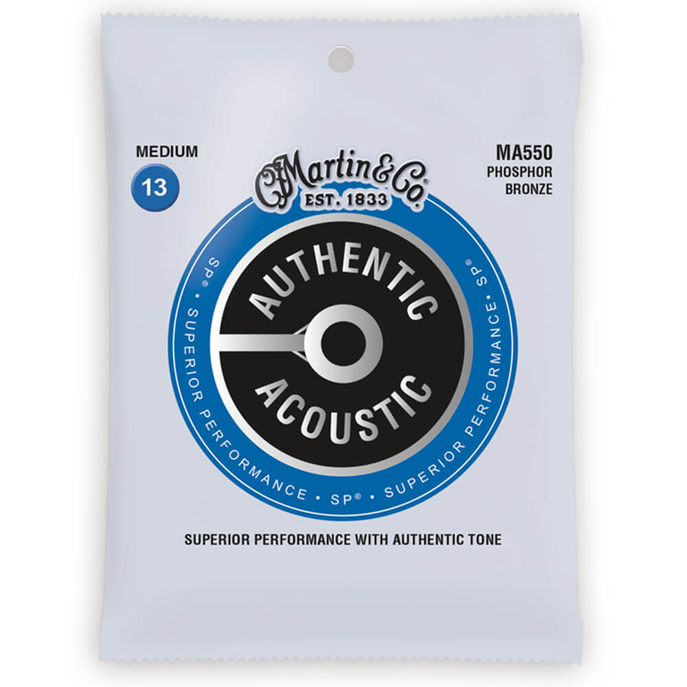 Martin Strings MA550 Phosphor Bronze Authentic Acoustic Guitar Strings Medium 13-56