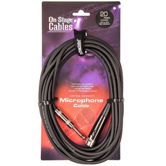 On-Stage Hi-Z Microphone Cable XLR-Jack - 20ft/6m