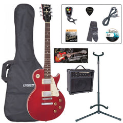 Encore E99 Electric Guitar Package - Wine Red