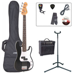 Encore E20 Bass Guitar Blaster Pack - Black