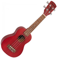 Laka VUS5RD Soprano Ukulele with Bag - Red