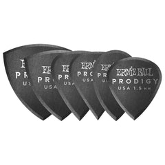 Ernie Ball 1.5mm Black Prodigy Picks Multipack