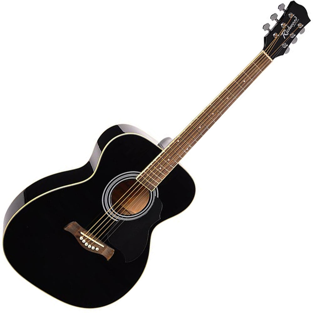 Richwood RA12 Artist Series Folk Shape Acoustic Guitar - Black / Blue / Red