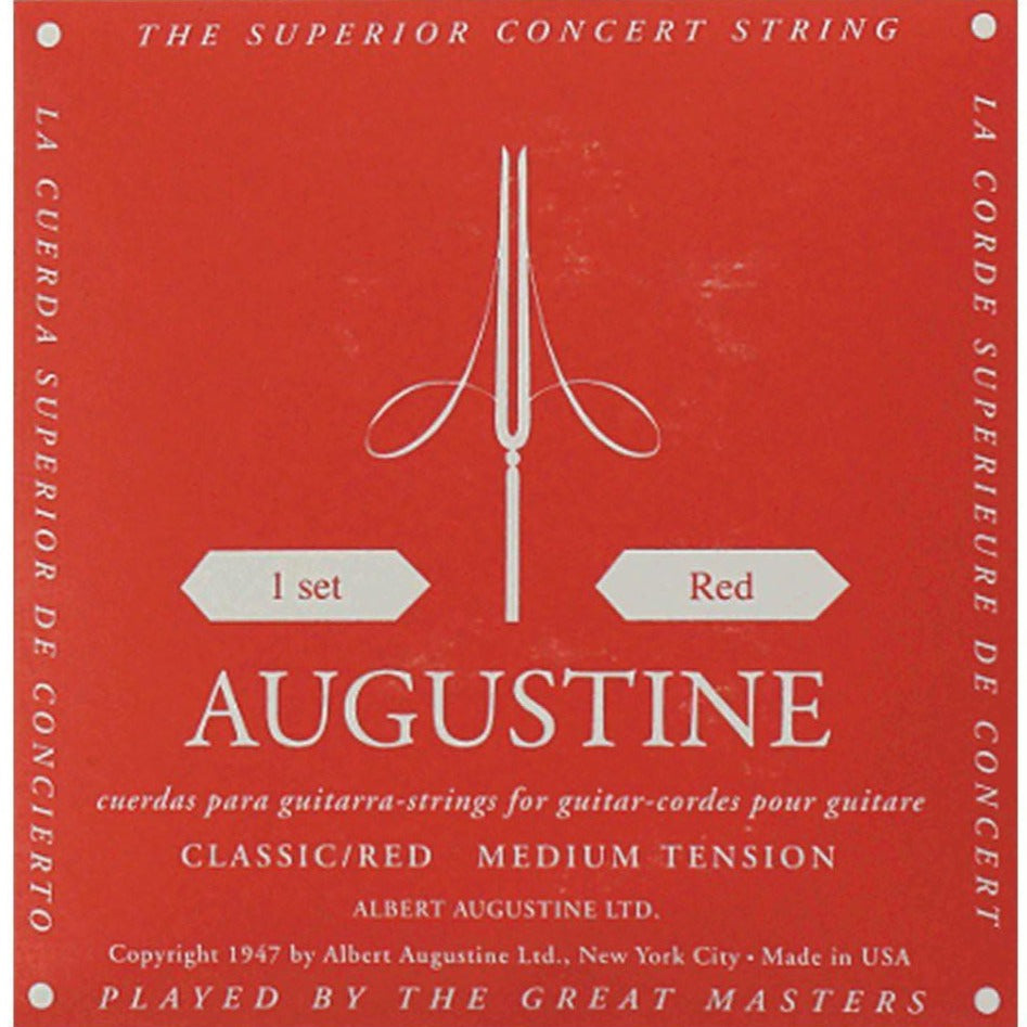 Augustine Classical Guitar Strings Red Label Medium Tension