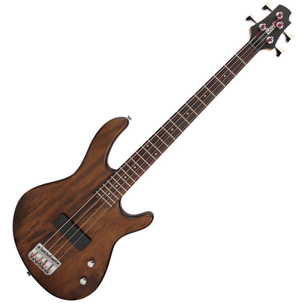 Cort Action Bass Junior Open Pore - Short Scale - Walnut