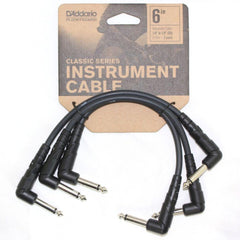D'Addario Classic Patch Cables - 3 Pack - 6inches (15cm)