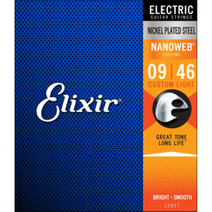 Elixir 12027 Nanoweb Coated Electric Guitar Strings - Custom Light - 9-46