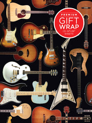 Hal Leonard Wrapping Paper - Guitar Collage Theme