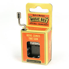 Hand Crank Music Box - Beatles Here Comes The Sun