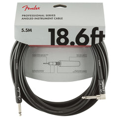 Fender Professional Series Instrument Cable - Right Angle - 5.5m 18.6ft - Black