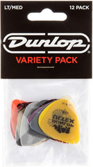 Jim Dunlop PVP101 Plectrum Variety Players 12 Pack - Medium / Light