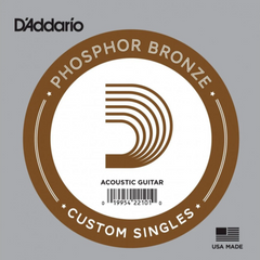 D'Addario Strings Acoustic Guitar Single String Phosphor Bronze 22 - 56
