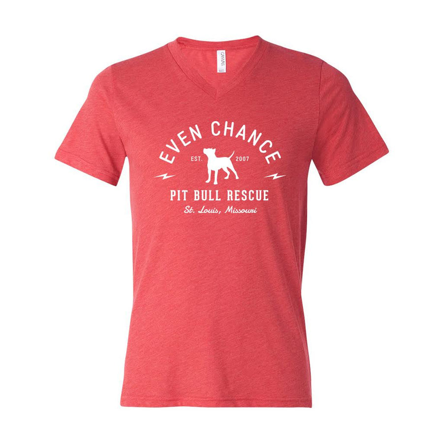Red V-Neck Tri-blend Tee