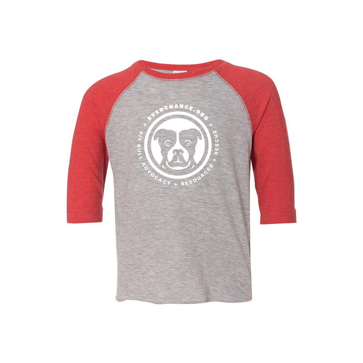 Toddler Heather Red Baseball Jersey Tee