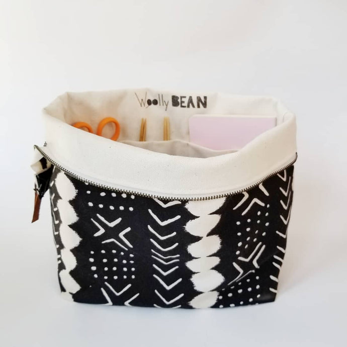PRE-ORDER  Knitting Project Bag | Large | Mudcloth