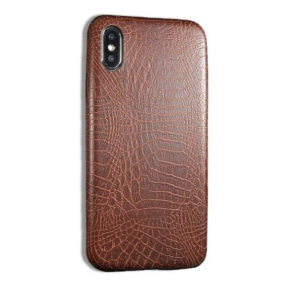 Vegan Leather iPhone Case - Crocodile Skin Pattern (Unisex)